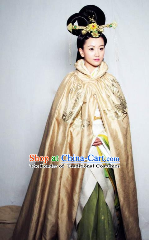 Chinese Ancient Northern and Southern Dynasties Qi Kingdom Queen Xiao Hanfu Dress Replica Costume for Women