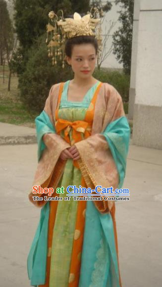 Chinese Ancient Tang Dynasty Palace Lady Female Assassin Hong Fu Hanfu Dress Replica Costume for Women