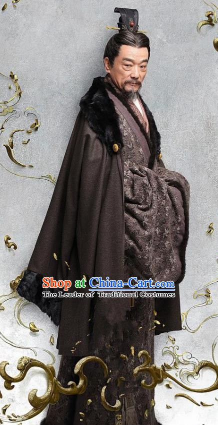 Chinese Ancient Eastern Han Dynasty Minister Military Strategist Yang Biao Historical Costume for Men