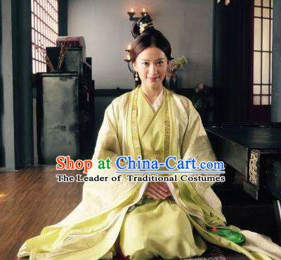 Chinese Three Kingdoms Period Wei State Imperial Concubine Zhen Mi Hanfu Dress Ancient Replica Costume for Women