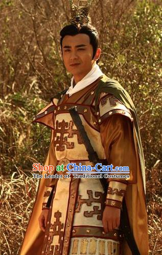 Traditional Chinese Ancient Three Kingdoms Period Wei State Emperor Cao Pi Historical Costume for Men