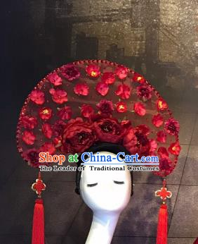 Top Grade China Ancient Hair Accessories Palace Flowers Hair Crown Stage Performance Headdress for Women
