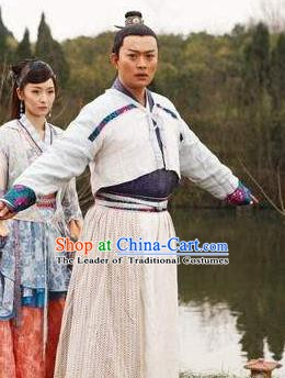 Ancient Chinese Tang Dynasty Famous Litterateur Poet Chen Zi-ang  Replica Costumes for Men