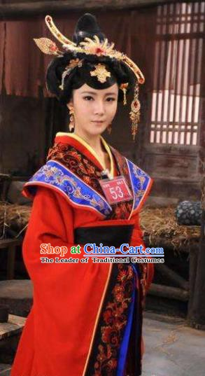 Ancient Chinese Spring and Autumn Period Palace Lady Xi Shi Hanfu Dress Replica Costume for Women