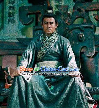 Ancient Chinese Eastern Han Dynasty Swordsman Replica Costume for Men
