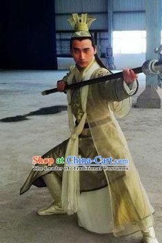 Ancient Chinese Han Dynasty General Nobility Childe Huo Qubing Replica Costume for Men