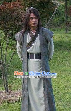 Chinese Ancient Han Dynasty Swordsman Knight-errant Guo Xie Replica Costume for Men
