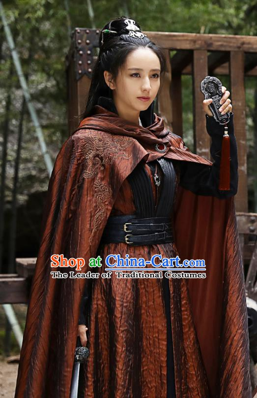 Chinese Ancient Nirvana in Fire Southern and Northern Dynasties Female General Meng Qianxue Replica Costume for Women