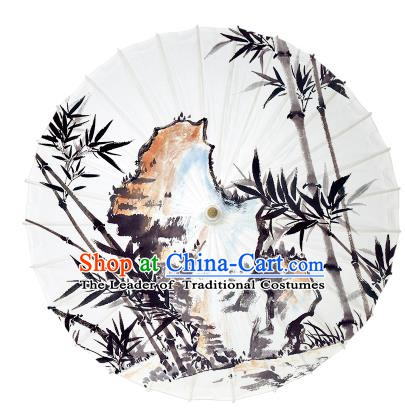 Chinese Traditional Artware Paper Umbrella Ink Wash Painting Bamboo Oil-paper Umbrella Handmade Umbrella