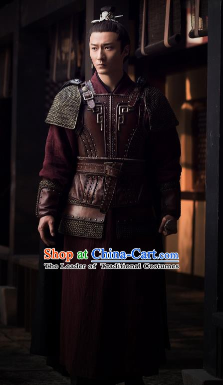 Nirvana in Fire Chinese Ancient General Replica Costume Knight-errant Helmet and Armour for Men