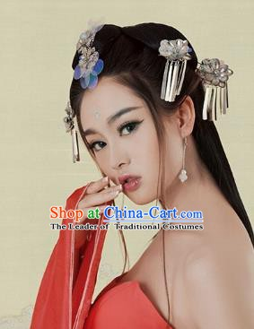 Traditional Chinese Ancient Queen Hair Accessories Hairpins Tassel Hair Stick Complete Set for Women