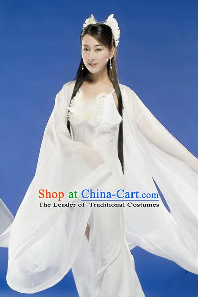 Chinese Ancient Tang Dynasty Imperial Consort Xu Hezi Hanfu Dress Embroidered Replica Costume for Women