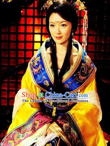 Chinese Ancient Tang Dynasty Imperial Consort Mei Hanfu Dress Replica Costume for Women