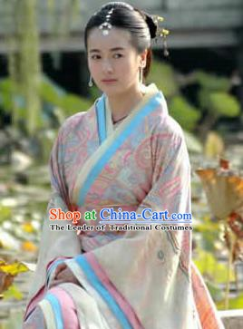 Traditional Ancient Chinese Han Dynasty Prime Minister Wife Xin Zhui Hanfu Dress Replica Costume for Women