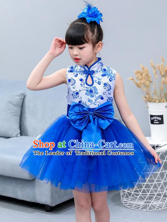 Top Grade Stage Performance Chorus Singing Group Costume, Professional Compere Modern Dance Dress for Kids