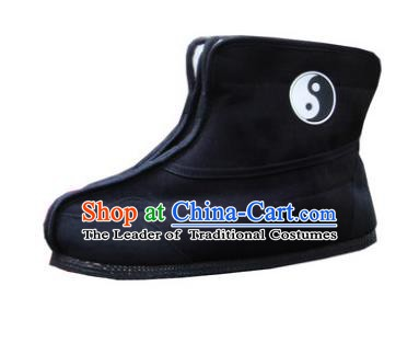 Chinese Traditional Handmade Tai Chi Cloth Shoes Taoist Priest Boots Martial Arts Shoes Kung Fu Shoes for Men