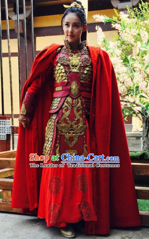 Chinese Ancient Three Kingdoms Dynasty Female General Gongsun Baoyue Replica Costume for Women