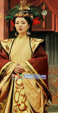 Traditional Chinese Ancient Chu Kingdom Empress Wei Hanfu Dress Embroidered Replica Costume for Women