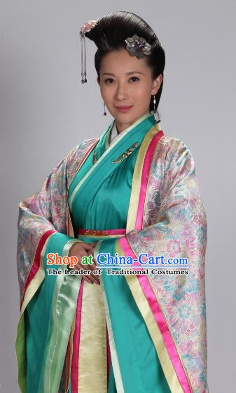 Traditional Chinese Ancient Qin Kingdom Imperial Concubine Wei Hanfu Dress Embroidered Replica Costume for Women