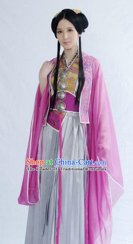 Chinese Ancient Chu Dynasty Consort Yu Replica Hanfu Dress Costume for Women