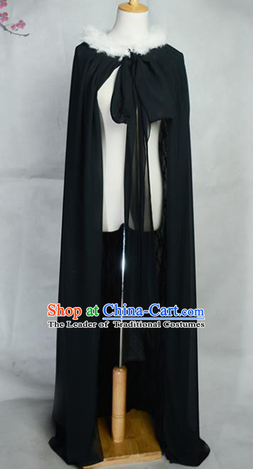 Traditional Chinese Ancient Knight-errant Costume Cosplay Swordsman Hanfu Cloak for Men