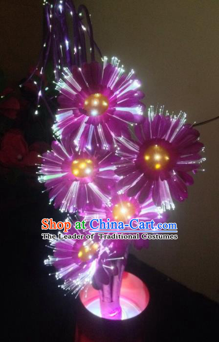 Traditional Handmade Chinese Daisy Lanterns Electric LED Lights Lamps Desk Lamp Decoration