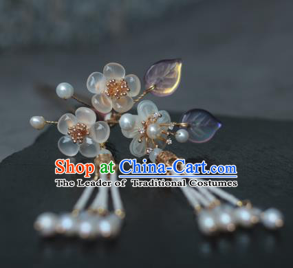 Traditional Chinese Ancient Handmade Tassel Step Shake Hair Stick Classical Hair Accessories Hairpins for Women