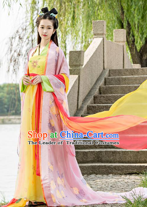 Traditional Chinese Ancient Imperial Consort Costume Tang Dynasty Palace Lady Hanfu Dress for Women