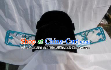 Chinese Traditional Beijing Opera Hair Accessories Peking Opera Magistrate Headwear Hats for Men