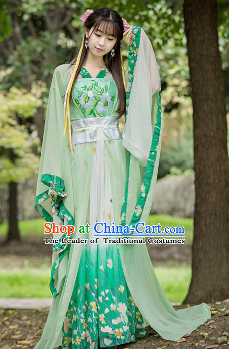 Chinese Ancient Princess Hanfu Dress Tang Dynasty Palace Princess Embroidered Replica Costume for Women