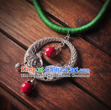 Chinese Traditional Embroidery Accessories Handmade Miao Sliver Necklace for Women