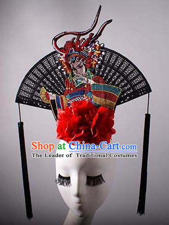 Top Grade China Traditional Palace Hair Accessories Halloween Catwalks Royal Crown Stage Performance Modern Fancywork Headwear
