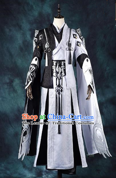 China Ancient Cosplay Swordsman Royal Highness Costumes Complete Set Chinese Traditional Knight-errant Clothing for Men