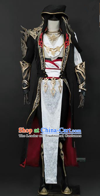 China Ancient Cosplay Swordsman Warriors Costumes Complete Set Chinese Traditional Knight-errant Clothing for Men