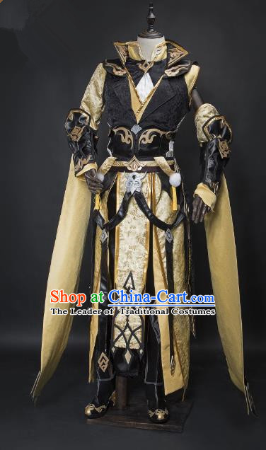 China Ancient Cosplay General Swordsman Costumes Chinese Traditional Knight-errant Clothing for Men