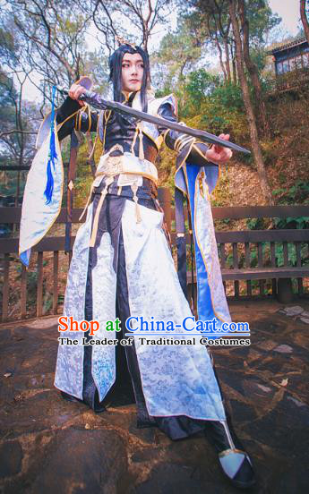 Traditional China Ancient Cosplay Swordsman Costumes Chinese Knight-errant Clothing for Men
