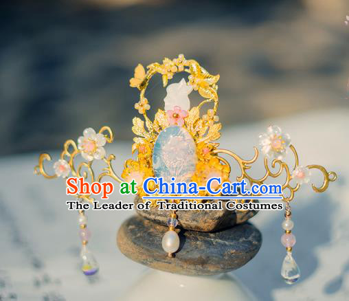 China Ancient Hair Accessories Hanfu Phoenix Coronet Step Shake Chinese Classical Hairpins for Women