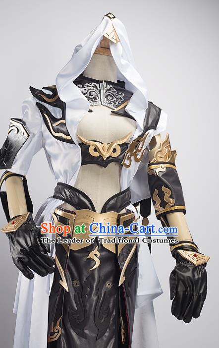Traditional China Cosplay Swordsman Kawaler Costumes Chinese Ancient Knight-errant Clothing for Men
