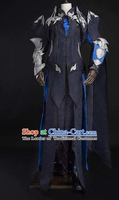Traditional China Cosplay Swordsman Costumes Chinese Ancient Kawaler Knight-errant Clothing for Men