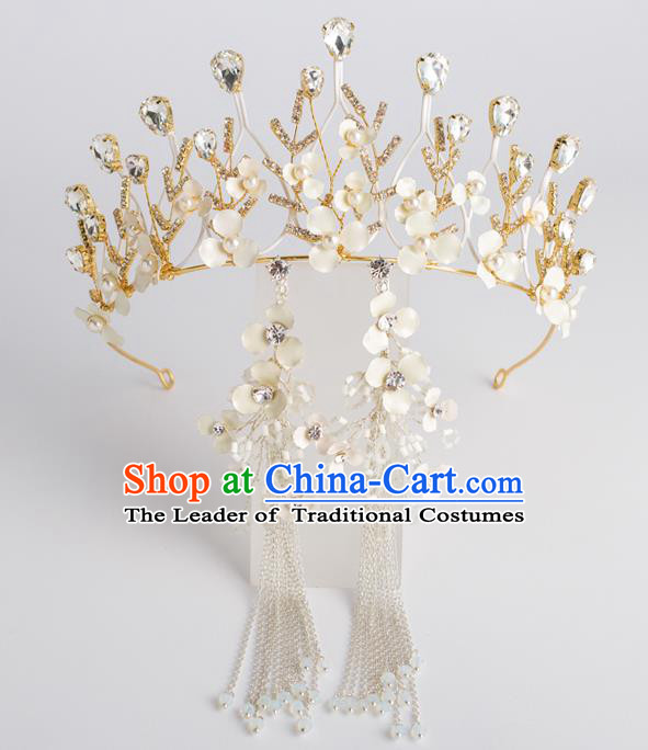 Baroque Bride Hair Accessories Classical Zircon Wedding Royal Crown Princess Imperial Crown Headwear for Women