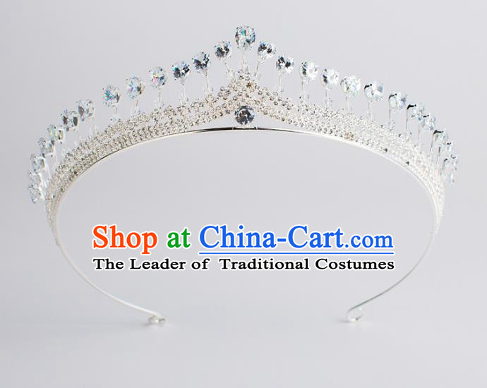 Baroque Bride Hair Accessories Zircon Royal Crown Wedding Princess Classical Imperial Crown for Women