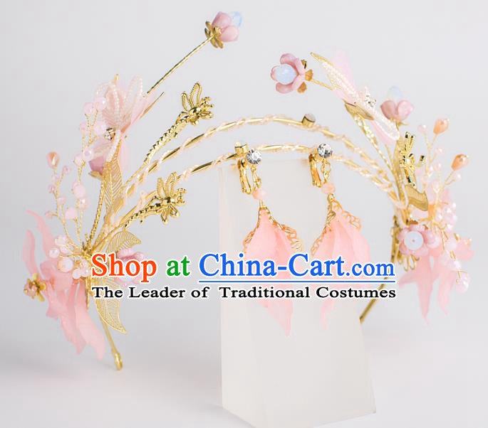 Baroque Bride Hair Accessories Butterfly Royal Crown Wedding Princess Classical Imperial Crown for Women