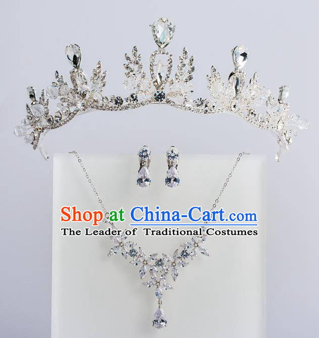 Baroque Princess Royal Crown Bride Classical Hair Accessories Wedding Crystal Imperial Crown for Women