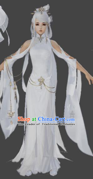 Chinese Ancient Costume Cosplay Fairy Swordswoman Dress Hanfu Clothing for Women
