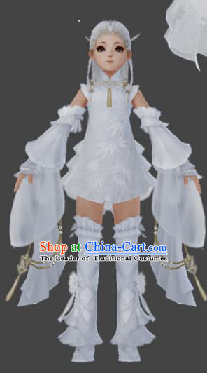 Chinese Ancient Costume Cosplay Fairy Swordswoman Dress Young Lady Hanfu Clothing for Women