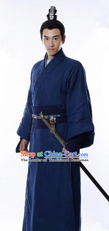 Traditional Chinese Ancient Swordsman Costume Untouchable Lovers Knight-errant Clothing for Men
