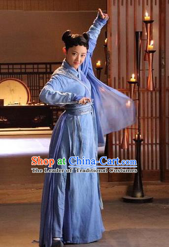 Chinese Ancient Female Assassin Costume Untouchable Lovers Northern and Southern Dynasties Swordswoman Replica Costumes for Women