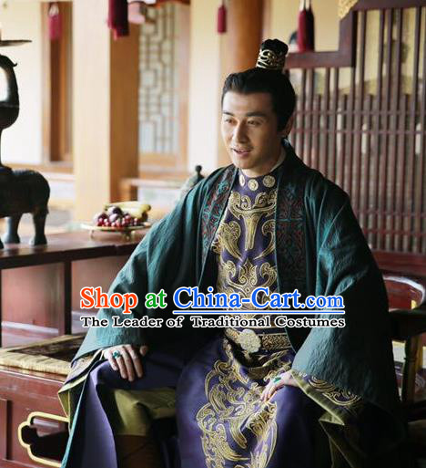 Chinese Ancient Royal Highness Costume Northern and Southern Dynasties Prince Replica Costumes for Men