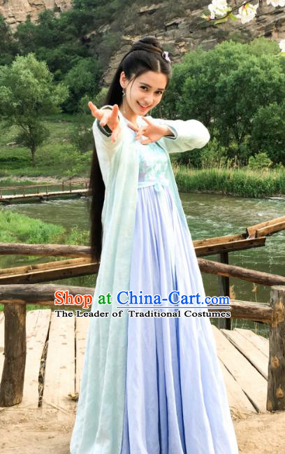 Traditional Chinese Ancient Costume Southern and Northern Dynasties Hanfu Clothing