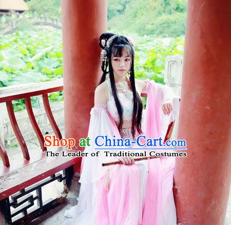 Chinese Ancient Fairy Hanfu Dress Han Dynasty Palace Lady Dance Costume for Women